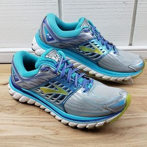 Brooks Glycerin 14 Running Shoes Silver Teal Blue